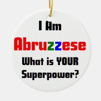 i am abruzzese ceramic ornament