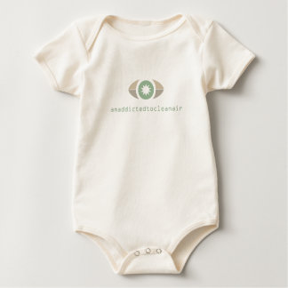 I am addicted to clean air baby bodysuit