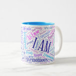 """I Am Affirmations Mug<br><div class=""""desc"""">I Am... the two most powerful words in the English language. Start your day off with this fun reminder of the I Am presence that you are, and affirm what is true about you with every sip from your mug. This affirmation mug makes a great gift for friends, family, co-workers....</div>"""