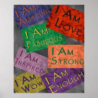 I Am Affirmations Poster
