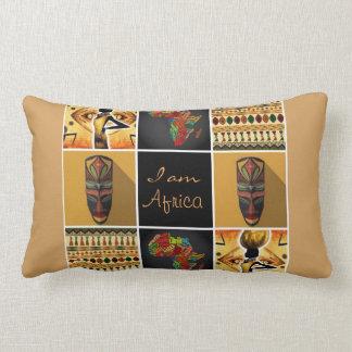 I Am Africa Pattern Print Collage Lumbar Pillow