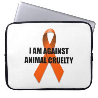 I Am Against Animal Cruelty Computer Sleeve