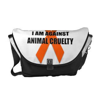 I Am Against Animal Cruelty Messenger Bag
