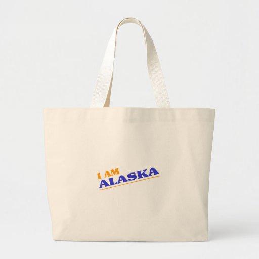 I am Alaska shirts Jumbo Tote Bag