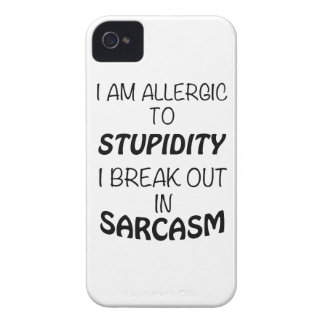 I am Allergic To Stupidity I Break Out In Sarcasm iPhone 4 Cover