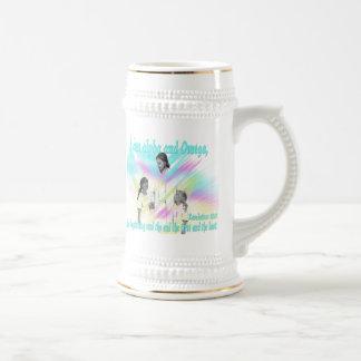 I am alpha and Omega Beer Stein