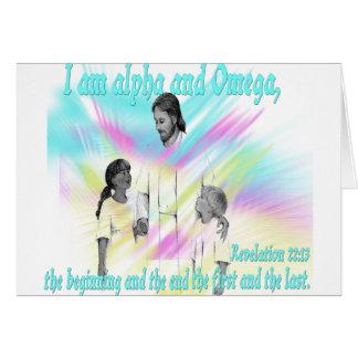 I am alpha and Omega Card