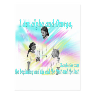 I am alpha and Omega Postcard