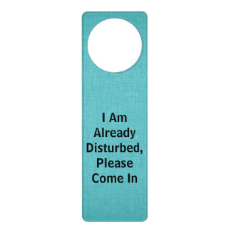 I am already disturbed, please come in door hanger