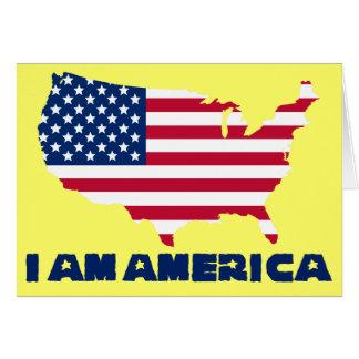 I am America (blue state) Card