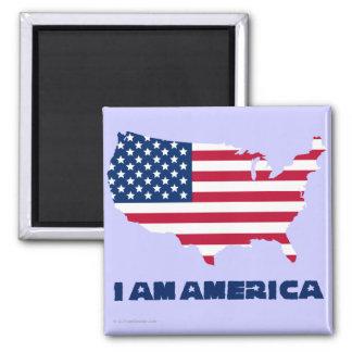 I am America (blue state) Magnet