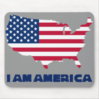 I am America (blue state) Mouse Pad
