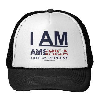 I AM AMERICA.. Not 47 Percent T Shirt - Original Trucker Hat