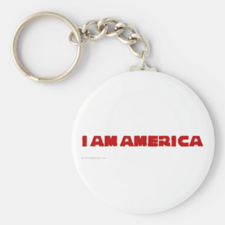 I am America (red state) Keychain