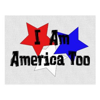 I Am America Too Postcard