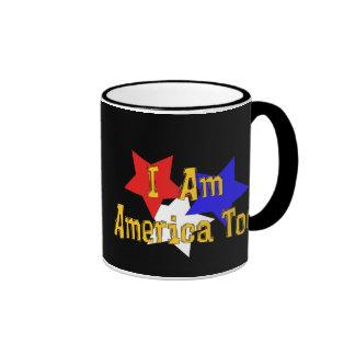 I Am America Too Ringer Mug