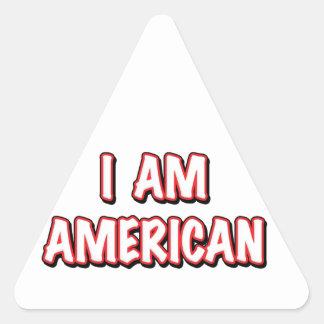 I am American Triangle Sticker