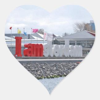 I am Amsterdam Sign, Netherlands Heart Sticker