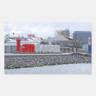I am Amsterdam Sign, Netherlands Rectangular Sticker