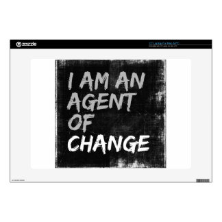 I Am An Agent of Change Laptop Decal