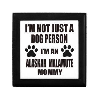 I am an Alaskan Malamute Mommy Keepsake Box