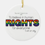 I am an ally Double-Sided ceramic round christmas ornament