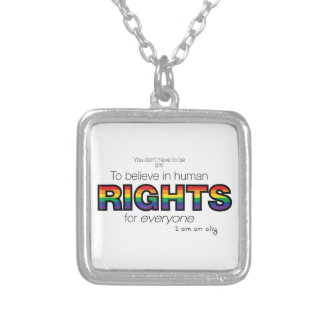 I am an ally silver plated necklace