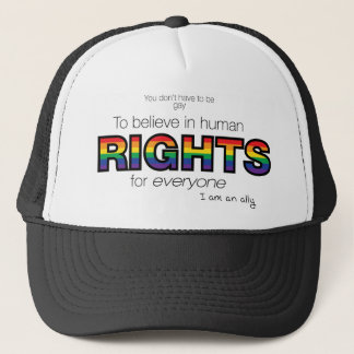 I am an ally trucker hat