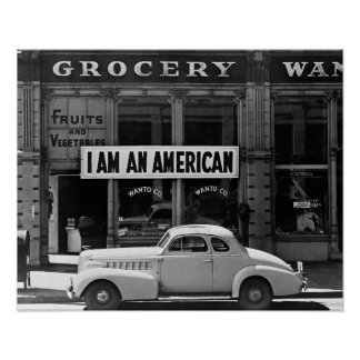 I Am An American, 1942. Vintage Photo Poster
