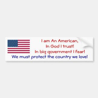 I am an American Bumper Stickers