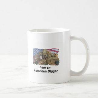 I am an American Digger Classic White Coffee Mug