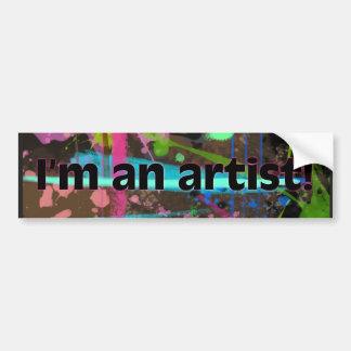 I am an artist! bumper stickers