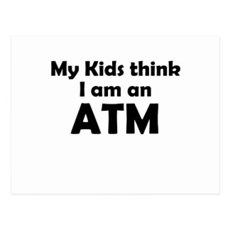 i am an atm postcard