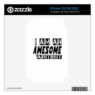 I am an Awesome Artist. Decal For The iPhone 3