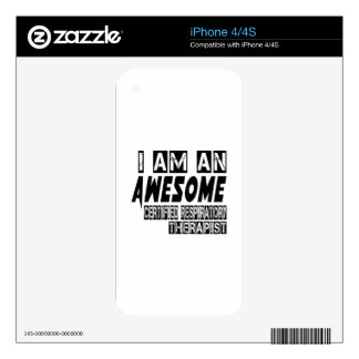 I am an Awesome Certified Respiratory Therapist. Decals For The iPhone 4