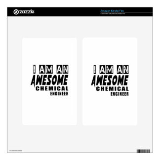 I am an Awesome Chemical engineer. Decal For Kindle Fire