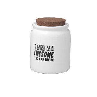 I am an Awesome Clown Candy Jars