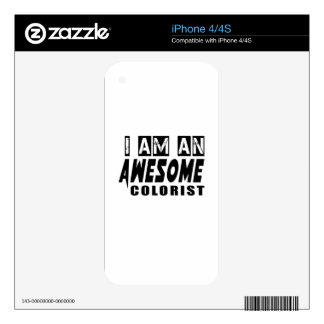 I am an Awesome COLORIST Decal For iPhone 4