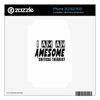 I am an Awesome CRITICAL THEORIST Skins For iPhone 3G