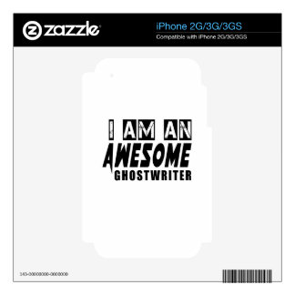 I am an Awesome GHOSTWRITER. iPhone 3GS Decal