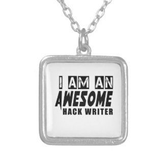I am an Awesome HACK WRITER. Square Pendant Necklace