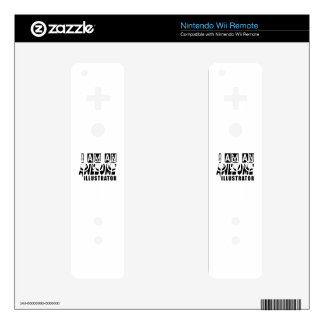 I am an Awesome ILLUSTRATOR. Wii Remote Skins