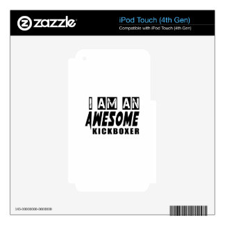 I am an Awesome KICKBOXER. iPod Touch 4G Decal