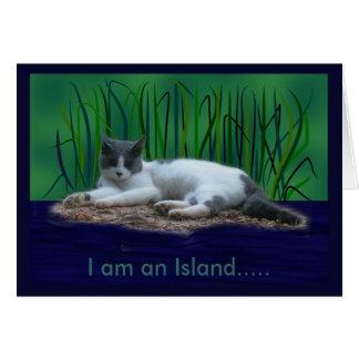 I am an Island, blank card