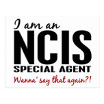 I Am An NCIS Special Agent Postcard