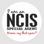 I Am An NCIS Special Agent Round Stickers