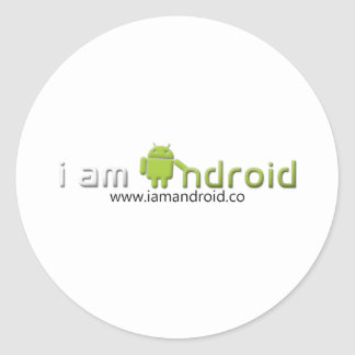I am Android Gear Classic Round Sticker