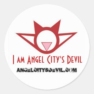 """I am Angel City's Devil"" sticker, large"
