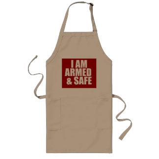 I Am Armed & Safe Apron Aprons