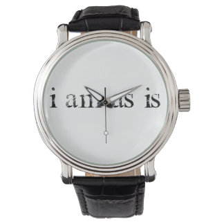 """I am, as is"" by C Rose Wristwatch"